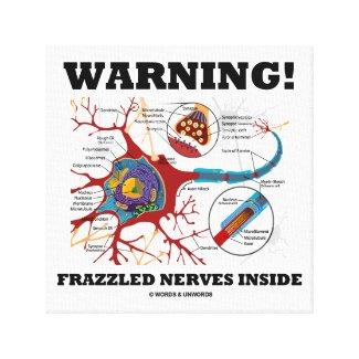Warning! Frazzled Nerves Inside Neuron Synapse Canvas Print