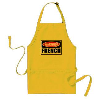Warning FRENCH Apron