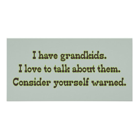 Warning from Grandparents Card