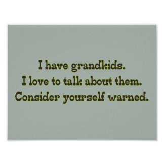 Warning from Grandparents Poster
