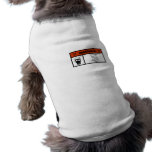 Warning Gas w print Dog Clothes
