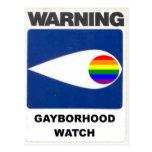 Warning:  Gayborhood Watch Postcards