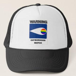 Warning:  Gayborhood Watch Trucker Hat