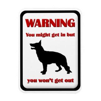 WARNING German Shepherd Flexible Magnets