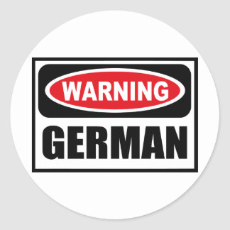 Warning GERMAN Sticker