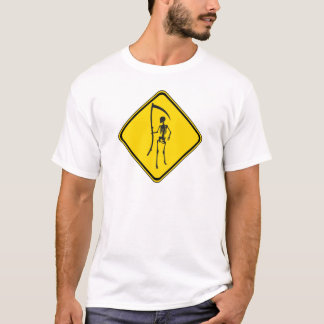 Warning: Grim Reaper Ahead! T-Shirt