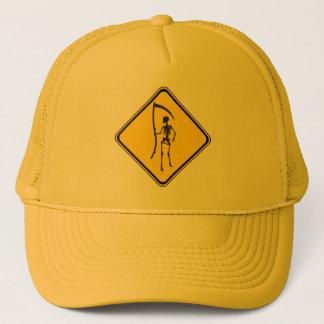 Warning: Grim Reaper Ahead! Trucker Hat