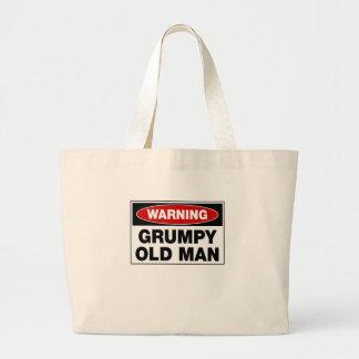 Warning Grumpy Old Man Large Tote Bag