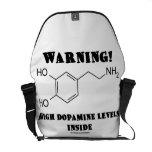 Warning! High Dopamine Levels Inside (Chemistry) Messenger Bags