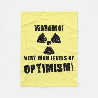 Warning! High Levels of Optimism! Fleece Blanket