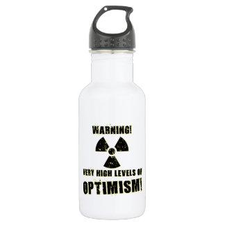Warning! High Levels of Optimism! Water Bottle