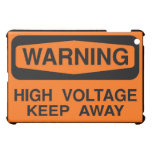warning high voltage case for the iPad mini