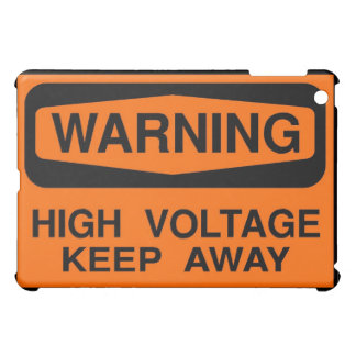 warning high voltage iPad mini covers