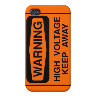 Warning high voltage iPhone 4/4S cover