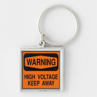 warning high voltage keychain