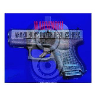 WARNING Home defense SIGN Photo Print