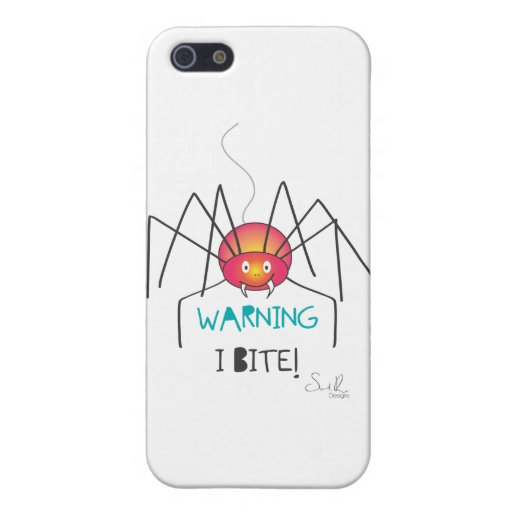 warning i bite 3 iPhone 5 cover