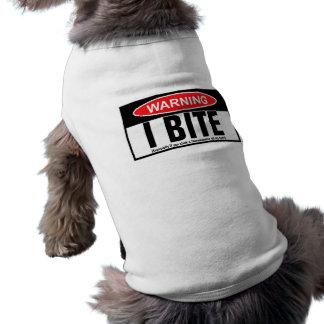 Warning,I bite T-Shirt