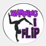 warning i flip sticker