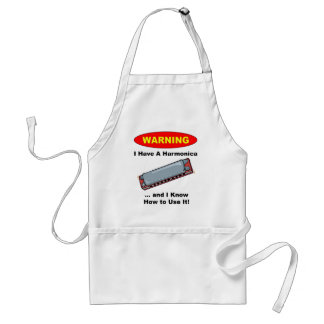 Warning! I Have A Harmonica ... Adult Apron