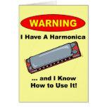 Warning! I Have A Harmonica ... Card
