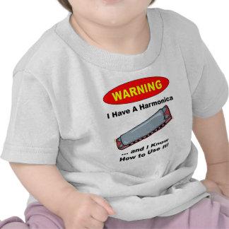 Warning! I Have A Harmonica ... T Shirts