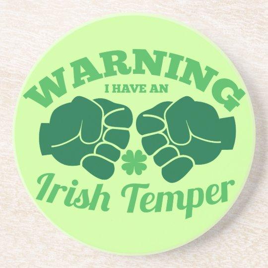 WARNING I have an Irish Temper! from Awesome Irish Coaster