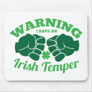 WARNING I have an Irish Temper! from Awesome Irish Mouse Pad