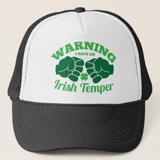 WARNING I have an Irish Temper! from Awesome Irish Trucker Hat