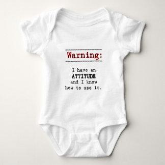 Warning: I have attitude Baby Bodysuit