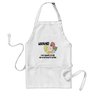 Warning I have Character Defects Adult Apron