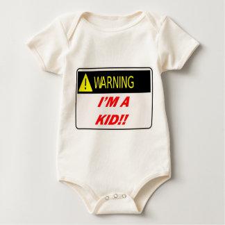 Warning I'm A Kid Organic Creeper
