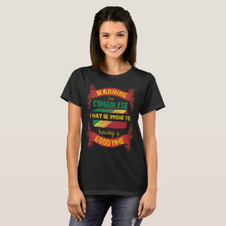 Warning I'm Congolese Prone to having Good Time T-Shirt