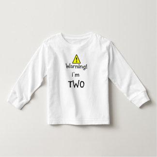 WARNING I'M TWO TODDLER T-SHIRT