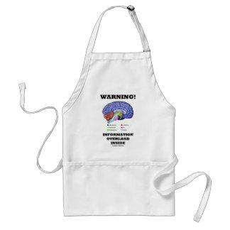 Warning! Information Overload Inside (Brain Humor) Adult Apron