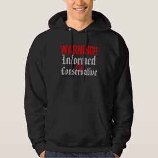 WARNING Informed and Conservative Hooded Pullover