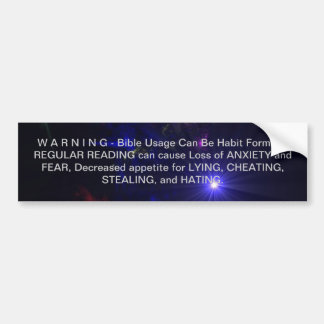 WARNING Inspirational SUPERNOVA Reading and Quotes Bumper Sticker