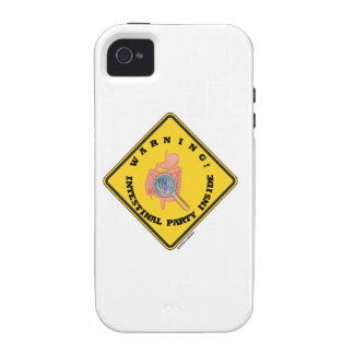 Warning! Intestinal Party Inside (Guts Magnifying) iPhone 4/4S Case