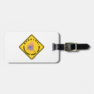 Warning! Intestinal Party Inside (Guts Magnifying) Luggage Tag