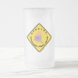 Warning! Intestinal Party Inside (Guts Magnifying) Mugs