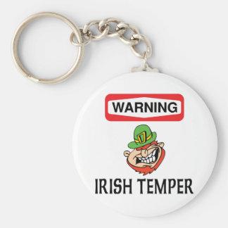 Warning Irish Temper Keychain