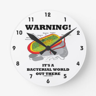 Warning! It's A Bacterial World Out There Round Clock