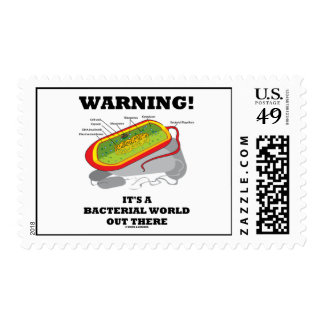 Warning! It's A Bacterial World Out There Stamp