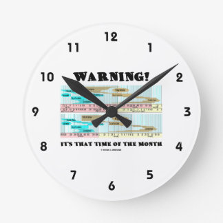 Warning! It's That Time Of The Month (Menstrual) Round Wall Clock