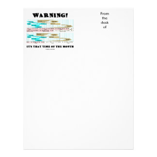 Warning! It's That Time Of The Month (Menstrual) Letterhead