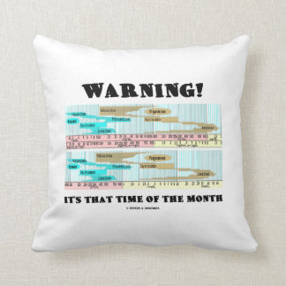 Warning! It's That Time Of The Month (Menstrual) Pillows