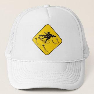 Warning Jellyfish in Water-Street sign Trucker Hat