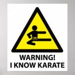 Warning Karate Poster