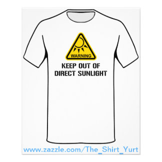 """WARNING - Keep Out of Direct Sunlight 4.5"""" X 5.6"""" Flyer"""