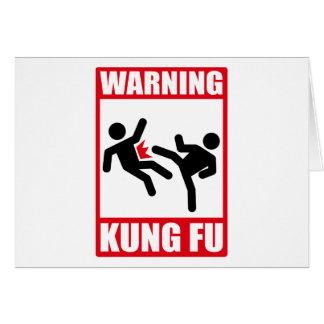 warning kung fu card
